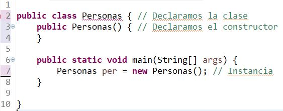 instancias en java